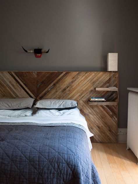 how to make a headboard with shelves