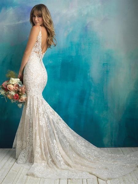 Allure Bridals 9501 Sample Sale Lace Sheath Wedding Dress Allure Bridal Gowns Allure Wedding Dresses Sheath Wedding Dress Lace,Wedding Dress Sparkle Top