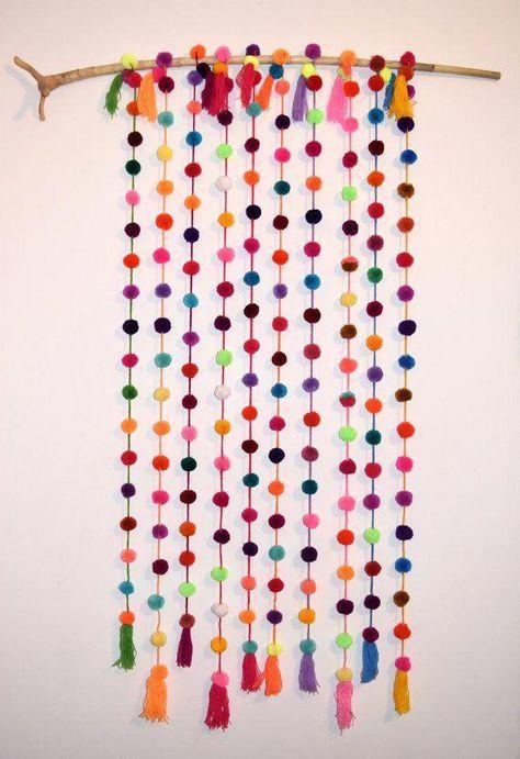 Pom Pom Garland 5 Pack Pom Pom String 5 x 1.50m / 5ft   Etsy #diychildrenroom