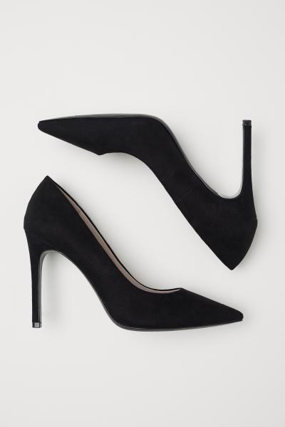 h and m black pumps