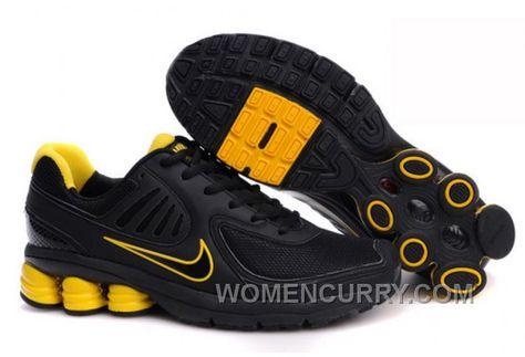 Men s Nike Shox R6 Shoes Black Yellow Online a03c85b7e3