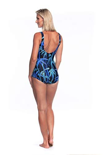 Maxine Of Hollywood Womens Shirred Front Girl Leg One Piece Swimsuit One Piece Swimsuit