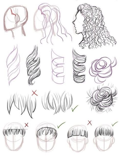 30+ Amazing Hair Drawing Ideas & Inspiration Brighter Craft