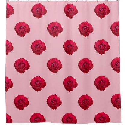 Red Rose Shower Curtain Zazzle Com Drop Cloth Curtains Purple
