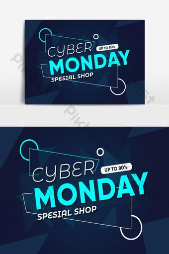 Cyber Monday Sale Vector Graphic Element Png Images Ai Free Download Pikbest Cyber Monday Design Black Friday Poster Cyber