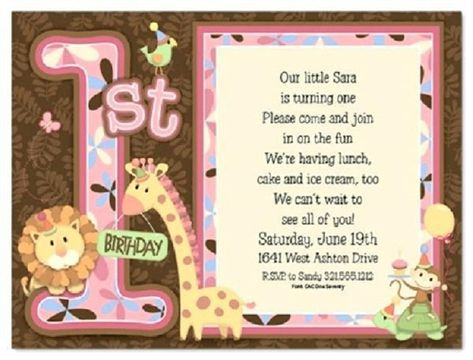First Birthday Invitation Card Matter In Hindi First