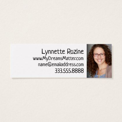 Actor Actress Skinny Business Card Template Business Template Gifts Unique Customize Diy Personalize Business Card Template Business Template Gift Business