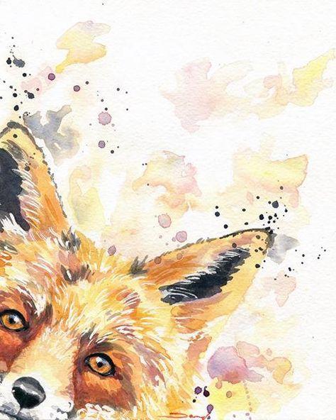 Fox Art Fox Art Nursery Wildlife Art Animal Office Decor