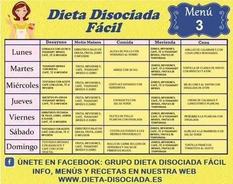 Semanales dieta disociada cantidad