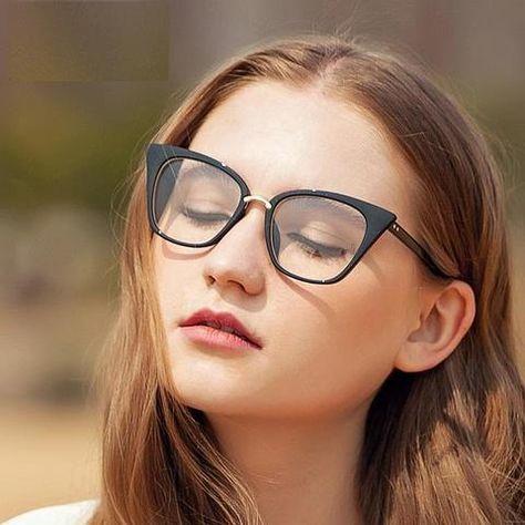 3e7ae61c55 New 2018 fashion cat eye glasses frames optical brand design vintage  catmodlilj