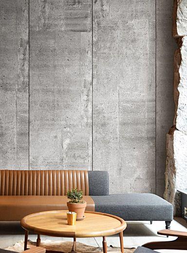 Raw Concrete Wallpaper Strip Concrete Walls Interior Concrete Wallpaper Concrete Interiors