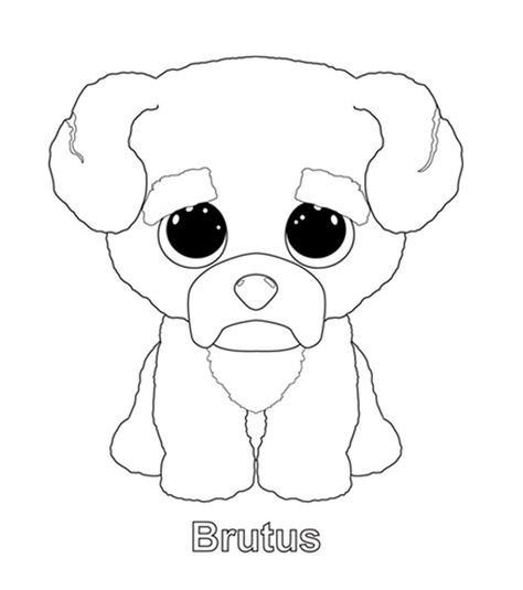 - Ty Art Gallery Dog Coloring Page, Beanie Boo Dogs, Boo The Dog
