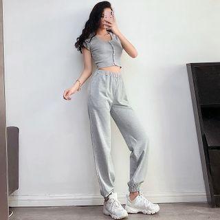 Elastic High-Waist Harem Pants in 6 Colors