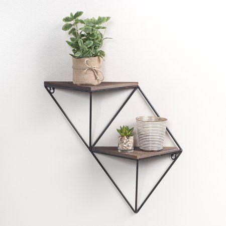 Home In 2020 Geometric Shelves Decor Industrial Wall Shelves