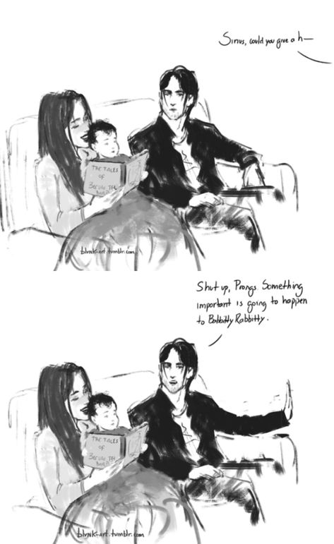 The Marauders and Lily - Who said Sirius Black never listened to a mom reading bedtime stories? By blvnk