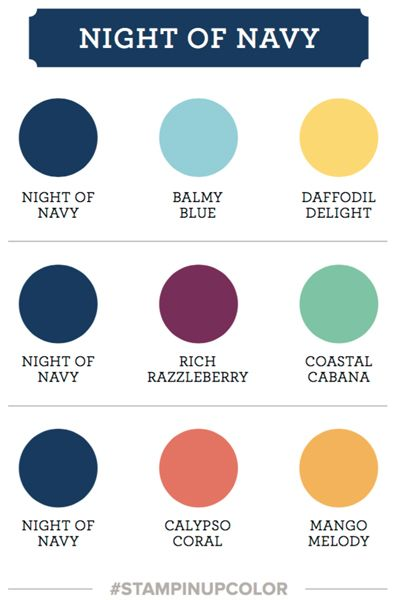 Art With Heart Colour Creations Blog Hop 32 Night Of Navy Navy Color Scheme Color Combos Color