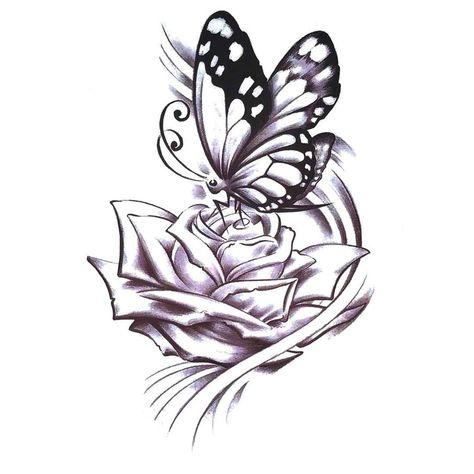 UneTattoo MX-1188 Temporary Tattoo Arm Tattoo Flower Tattoo 15*21 CM