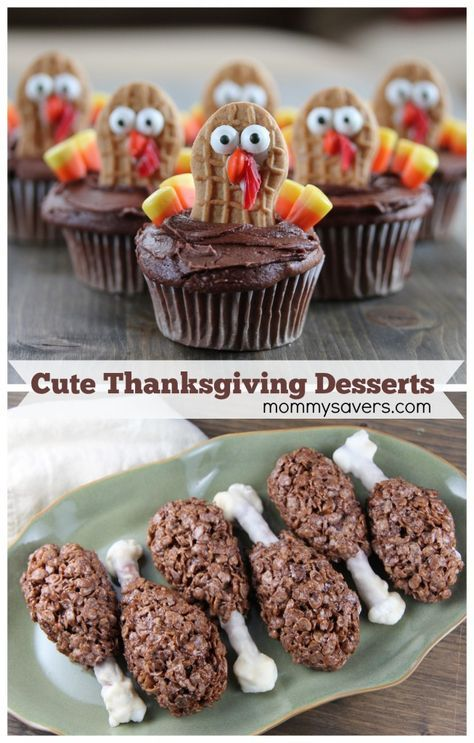 These adorable Turkey Cupcakes are the perfect dessert recipe for that Thanksgiving party at school! Cupcakes are my favorite dessert, and this recipe is pretty easy. Get the kids to help! Cute Thanksgiving Desserts, Holiday Snacks, Thanksgiving Parties, Fall Desserts, Thanksgiving Turkey, Dessert Recipes, Thanksgiving Decorations, Cute Desserts, Happy Thanksgiving