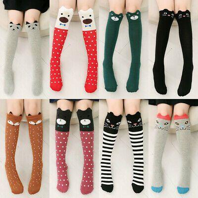 Girls Trendy 3D Lovely Cartoon Animal Thigh Stockings Over Knee High Long Socks