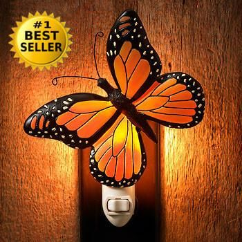 Monarch Butterfly Night Light With Images Butterfly Room Decor