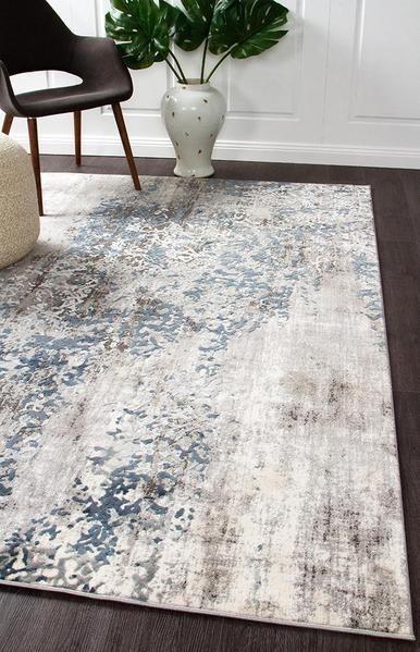 Kendal 1731 Grey Modern Rug Blue White Modern Rugs Blue Blue Grey Rug Rugs In Living Room