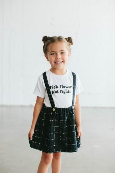 Pick Flowers Not Fights Kids Outfits Girls Little Girl Fashion