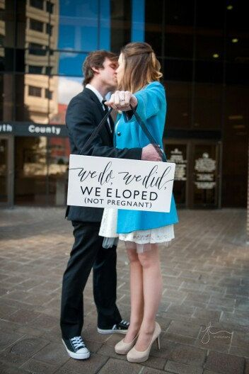 We Eloped Wedding Sign WS-209 by SweetNCCollective on Etsy