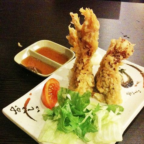 Jumbo-sized soft shelled crab tempura from newish(?) Japanese restaurant.
