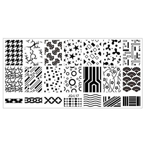 Nail Arts 6*12cm Stainless Steel Nail Art Stamping Plates Geometric Sports Nails…