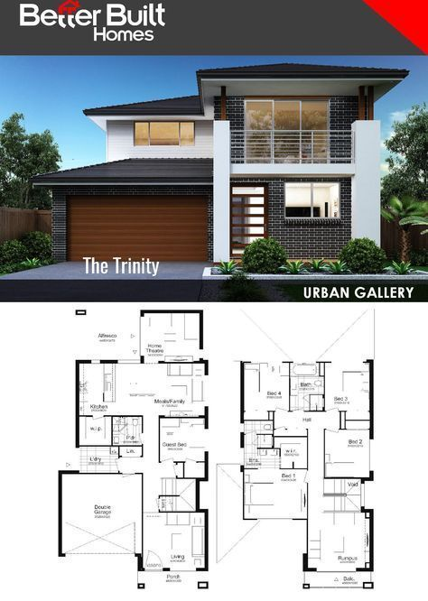 The Trinity Double Storey House Design 291 61 Sq M 10 35m X 19 34m With Generous Proportions Throu Double Storey House Plans Double Storey House House Plans