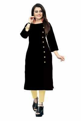 Indian Bollywood Women's Crepe Printed A-line Kurti dress  #fashion #clothing #s...#aline #bollywood #clothing #crepe #dress #fashion #indian #kurti #printed #womens