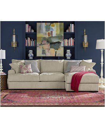 Furniture Rhyder 2 Pc Fabric Sectional Sofa With Chaise Created For Macy S Reviews Furniture Macy S Sectional Sofa With Chaise Fabric Sectional Sofas Fabric Sectional