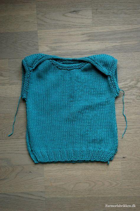 c87e5127 knitted babytop - free pattern (in Danish) | Strik | Baby, Strik og Børnetøj