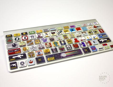 Macbook Keyboard Star Wars Skin