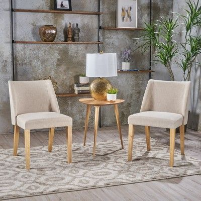 Regina Set Of 2 Accent Chair Wheat Christopher Knight Home