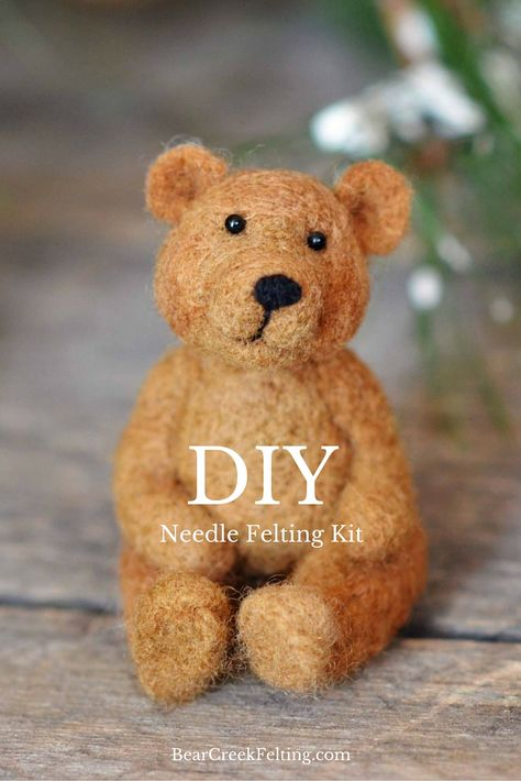 You will love making your very own needle felted Bear!