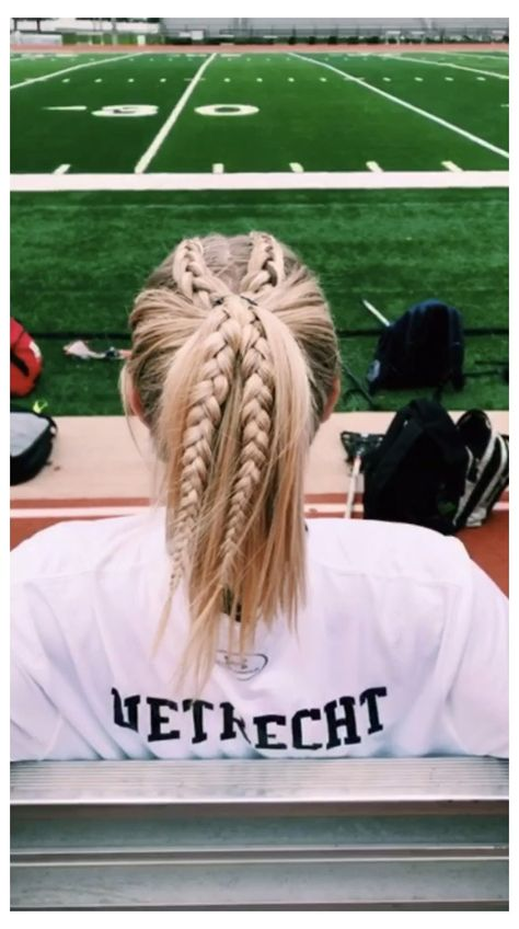 Running Hairstyles, Athletic Hairstyles, Softball Hairstyles, Teen Hairstyles, Pretty Hairstyles, Cute Sporty Hairstyles, Cute Hairstyles For Teens, Braided Ponytail Hairstyles, Hairstyles Videos