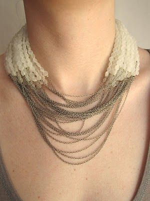 Frost and Chain Necklace, J.F.Mimilla