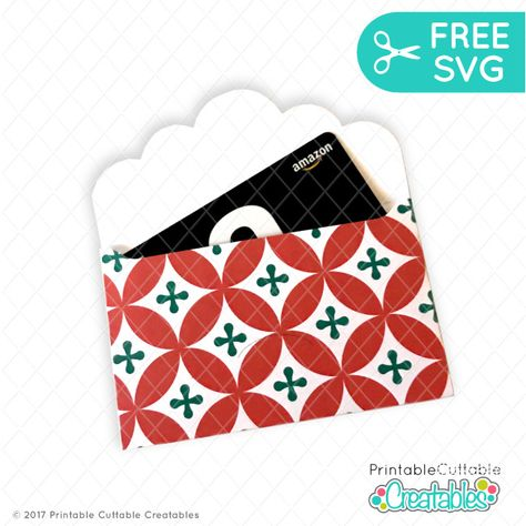 Scallop Envelop Gift Card Holder Free Svg File