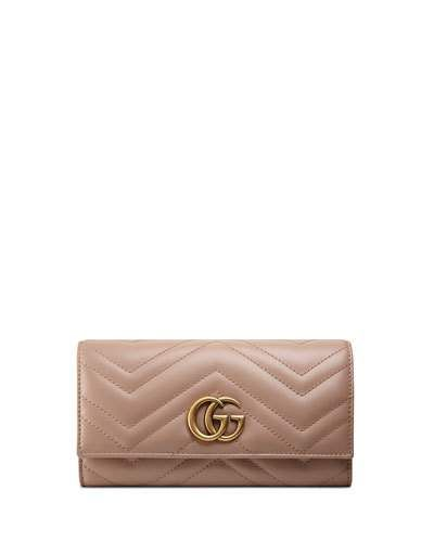 Womens Authentic Gucci Continental Wallet Hot Pink Marmont