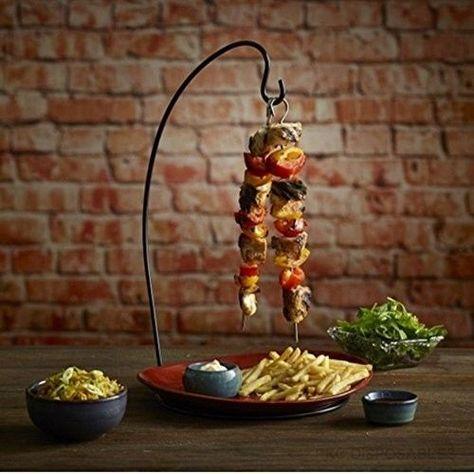Hanging Kebab Stand Vertical Skewer Holder Restaurant Hotel Home Table Serving