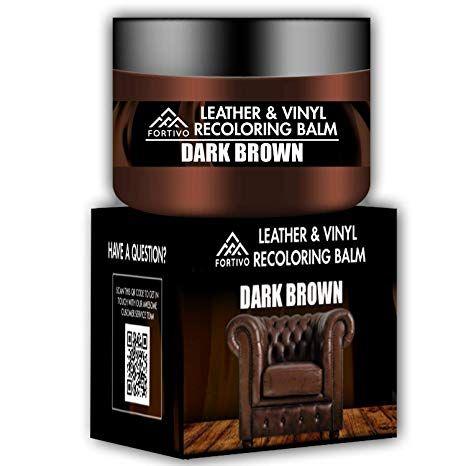 Leather Couch Repair Kit Dark Brown Dark Brown Leather Recoloring Balm Leather Repair Kits For Couches Leather In 2020 Leather Repair Leather Couch Repair Couch Repair