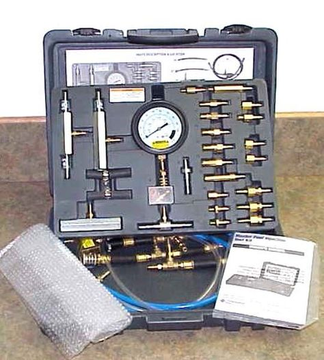 New Master Fuel Injection Test Kit W Manual Blow Mold Case Fuel Injection Diagnostic Service Blow Molding