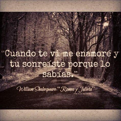 Frases español amor vida #Shakespaeare #RomeoYJulieta