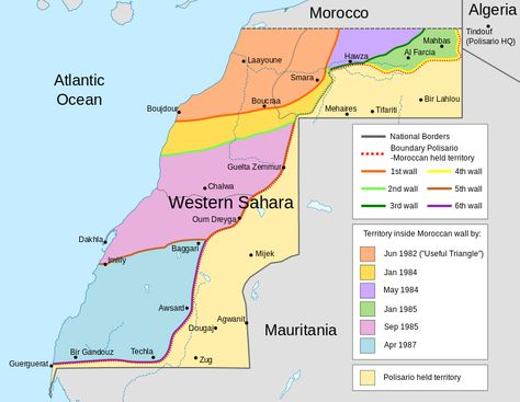 Ways to show Western Sahara in maps Western sahara and Westerns