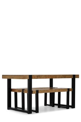 Jefferson Bench Set Oak Dining Table Bench Set Extending Table