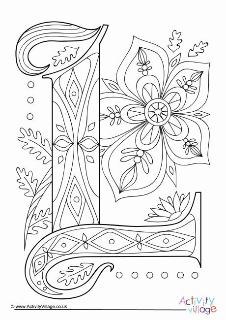 Letter S Coloring Sheet Best Of Illuminated Letter L Colouring Page Illuminated Letters Letter A Coloring Pages Coloring Pages