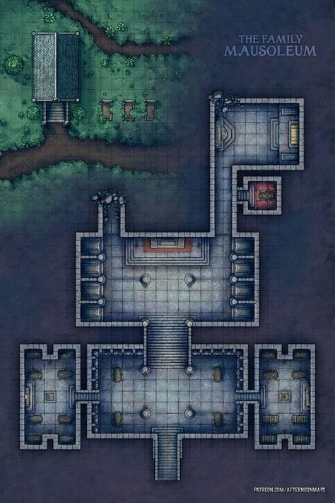 Afternoon Maps is creating RPG and DnD battlemaps