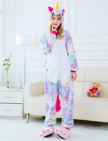 1e24d7290d49a5 Pijama Unicórnio Kigurumi Estrelinha Lindo | tumblr | Roupas pijamas ...