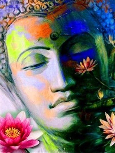 Buddha Diamantenbild Diy In 2020 Buddha Kunst Kunst Ideen Buddha Gemalde